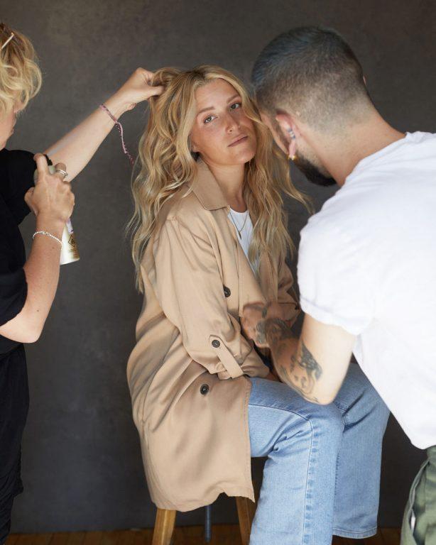 Philippe et Marie-Ève lors du shooting pour la collection 2019-2020